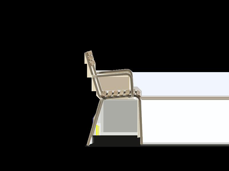 堆叠扶手椅